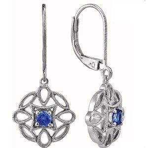 Shane Company Sapphire Earrings